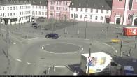 Archiv Foto Webcam Blick auf den Hahnplatz in Prüm mit der Basilika und der Abtei 10:00