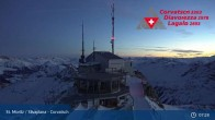 Archived image Webcam Corvatsch Ski Resort: Top Station 01:00