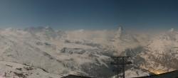 Archiv Foto Webcam Rothorn Zermatt mit Monte Rosa Massiv 18:00