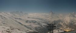 Archiv Foto Webcam Rothorn Zermatt mit Monte Rosa Massiv 20:00