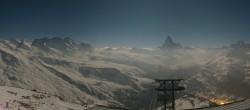 Archiv Foto Webcam Rothorn Zermatt mit Monte Rosa Massiv 22:00