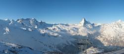 Archiv Foto Webcam Rothorn Zermatt mit Monte Rosa Massiv 02:00