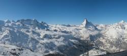 Archiv Foto Webcam Rothorn Zermatt mit Monte Rosa Massiv 04:00