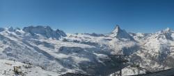 Archiv Foto Webcam Rothorn Zermatt mit Monte Rosa Massiv 06:00