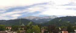 Archiv Foto Webcam Panoramakamera am Rathaus Garmisch 08:00