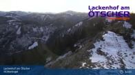 Archiv Foto Webcam Blick vom Hüttenkogel in Lackenhof Ötscher, Niederösterreich 13:00