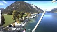 Archiv Foto Webcam Achensee - Pertisau Hochsteg 13:00