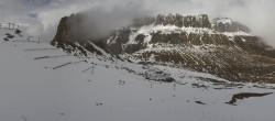 Archiv Foto Webcam Pordoi Pass Val di Fassa 08:00