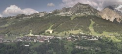 Archiv Foto Webcam La Plagne Villages Panorama 12:00