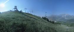Archiv Foto Webcam Panorama La Colmiane Gipfel 22:00