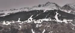 Archiv Foto Webcam Peisey Vallandry - Luftseilbahn Vanoise Express 02:00