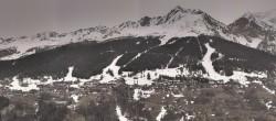 Archiv Foto Webcam Peisey Vallandry - Luftseilbahn Vanoise Express 04:00