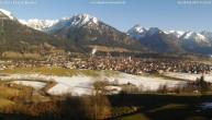 Archiv Foto Webcam Blick von der Kurklinik auf Oberstdorf 15:00