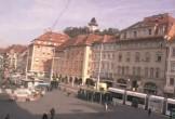 Archiv Foto Webcam Graz: Blick auf den Hauptplatz 04:00