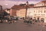 Archiv Foto Webcam Graz: Blick auf den Hauptplatz 08:00