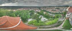 Archiv Foto Webcam Blick vom Schlossberg auf Graz 02:00