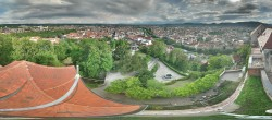 Archiv Foto Webcam Blick vom Schlossberg auf Graz 12:00