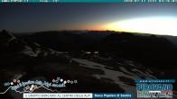 Archiv Foto Webcam Stilfserjoch: Blick vom Trincerone ins Tal 22:00