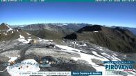 Archiv Foto Webcam Stilfserjoch: Blick vom Trincerone ins Tal 02:00