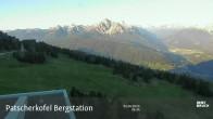Archiv Foto Webcam Blick auf die Patscherkofel Bergstation 00:00