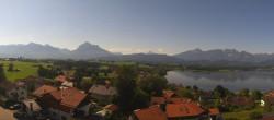 Archiv Foto Webcam Hopfensee - Blick Richtung Skigebiet Reutte-Hahnenkamm 04:00