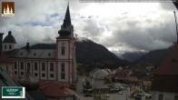 Archiv Foto Webcam Basilika Mariazell 08:00