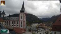 Archiv Foto Webcam Basilika Mariazell 10:00