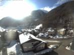 Archiv Foto Webcam Berghotel Tyrol im Schnalstal: Blick auf das Dorf Unser Frau 04:00