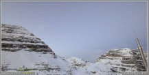 Archiv Foto Webcam Skigebiet Sella Nevea - Bovec Kanin - Blick Richtung Nordwesten 12:00