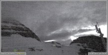 Archiv Foto Webcam Skigebiet Sella Nevea - Bovec Kanin - Blick Richtung Nordwesten 22:00