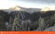 Archiv Foto Webcam Blick vom Montoni auf Ortler-Gruppe (Südtirol) 02:00