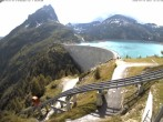 Archiv Foto Webcam Stausee Lac d'Émosson 10:00