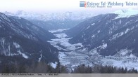 Archived image Webcam View towards village St. Magdalen in Valley Gsieser, South Tyrol 00:00