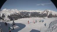 Archived image Webcam Schöneben: Top Station Rojen Chair Lift 08:00