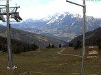 Archiv Foto Webcam Hauser Kaibling (Schladming-Dachstein) - Bergstation Sessellift 'Alm 6er' 08:00