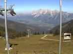 Archiv Foto Webcam Hauser Kaibling (Schladming-Dachstein) - Bergstation Sessellift 'Alm 6er' 04:00