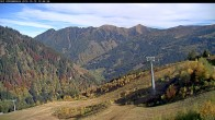 Archived image Webcam Riesneralm - Slope Nr. 9 and chairlift Panorama 06:00