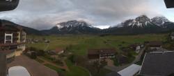 Archiv Foto Webcam Hotel Post Lermoos: Zugspitze 13:00