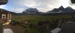 Archiv Foto Webcam Hotel Post Lermoos: Zugspitze 05:00