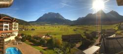 Archiv Foto Webcam Hotel Post Lermoos: Zugspitze 04:00