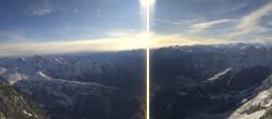 Archiv Foto Webcam Rundblick Pointe Helbronner (3462 m) 04:00