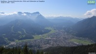 Archiv Foto Webcam Wankhaus - Blick zur Zugspitze 08:00