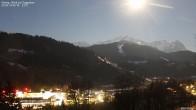 Archiv Foto Webcam Gsteig - Blick zur Zugspitze 03:00