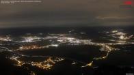 Archiv Foto Webcam Drehrestaurant Hoher Kasten - Blick ins Rheintal 22:00