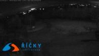 Archiv Foto Webcam Říčky v Orlických- Bergstation Sesselbahn Zakletý (Tschechien) 01:00