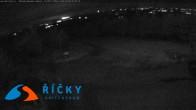 Archiv Foto Webcam Říčky v Orlických- Bergstation Sesselbahn Zakletý (Tschechien) 03:00
