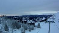 Archiv Foto Webcam Sadelexpressen Bergstation Skigebiet Åre 04:00