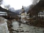 Archiv Foto Webcam Ramsau bei Berchtesgaden - Ortskirche St. Sebastian 04:00