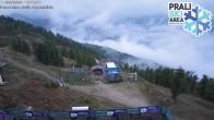 Archiv Foto Webcam Berghütte La Capannina - Skigebiet Prali 02:00