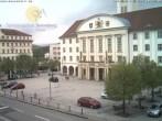 Archiv Foto Webcam Bahnhofplatz Sonneberg - Blick auf das Neue Rathaus 04:00